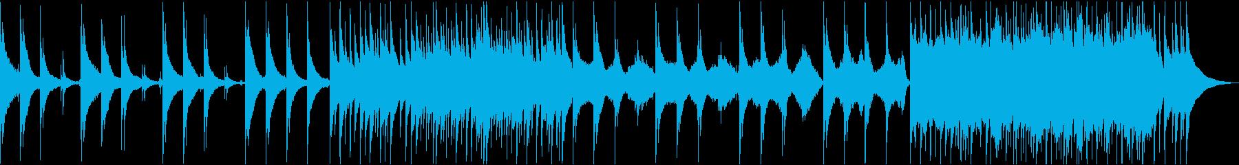アコギと弦楽器の優しい癒しの映像用音楽の再生済みの波形