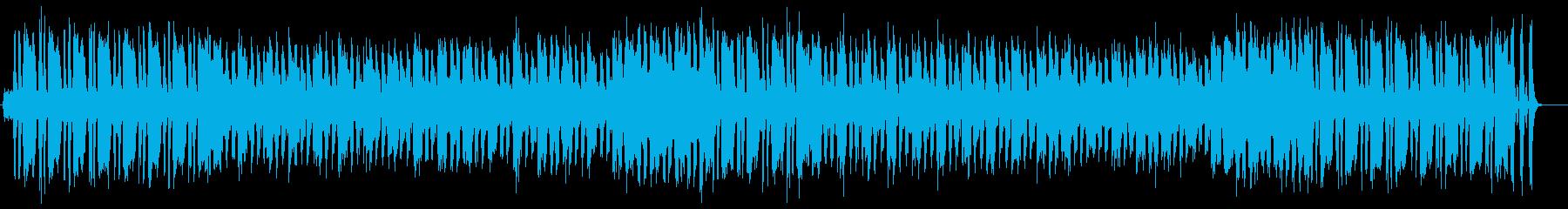 明るく元気で広がりのあるポップな曲の再生済みの波形