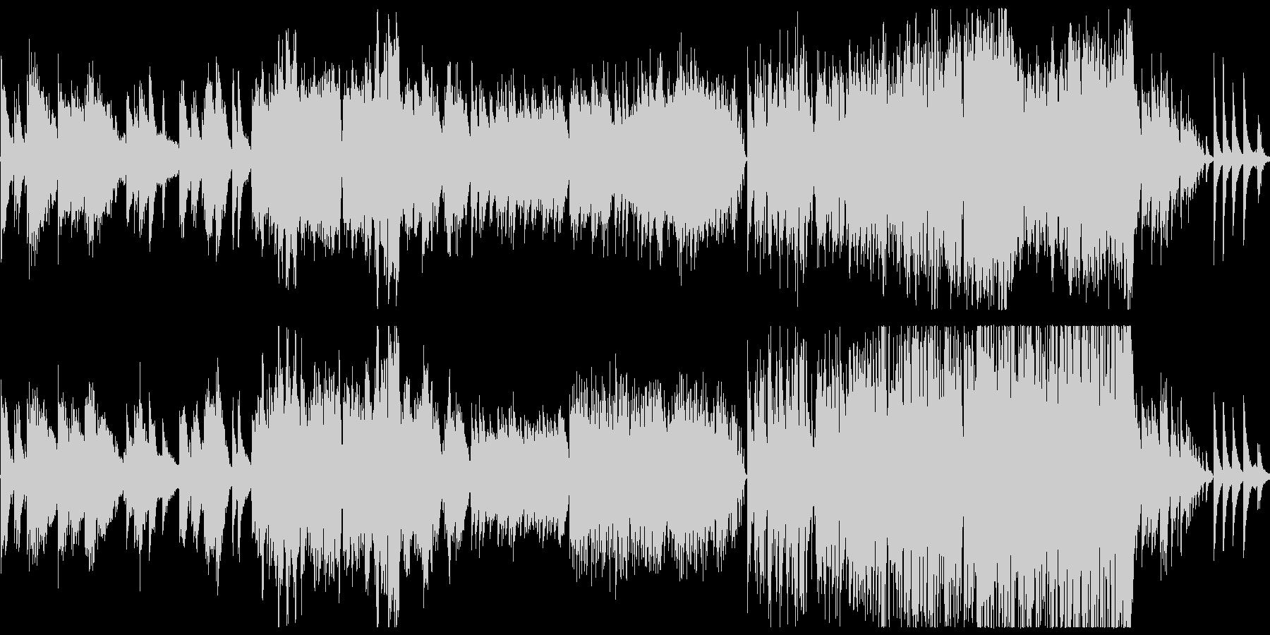 童謡の「ふるさと」インスト曲アレンジの未再生の波形