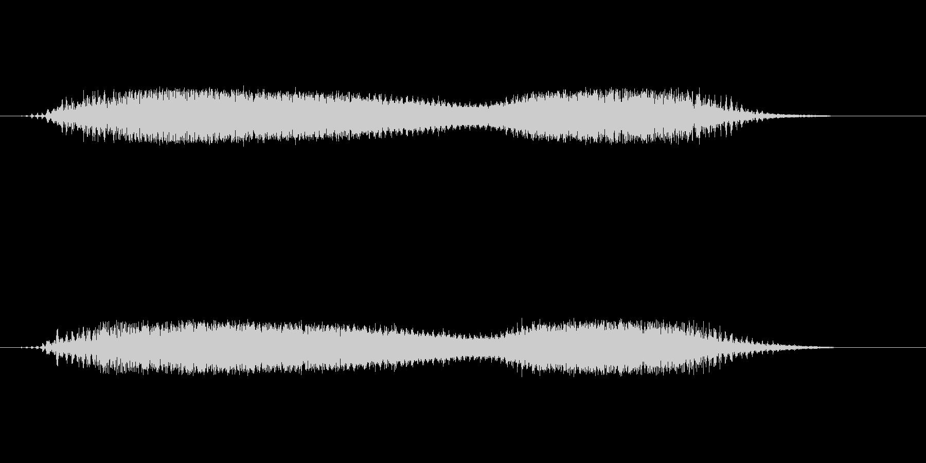 宇宙をイメージしたサウンドエフェクトの未再生の波形