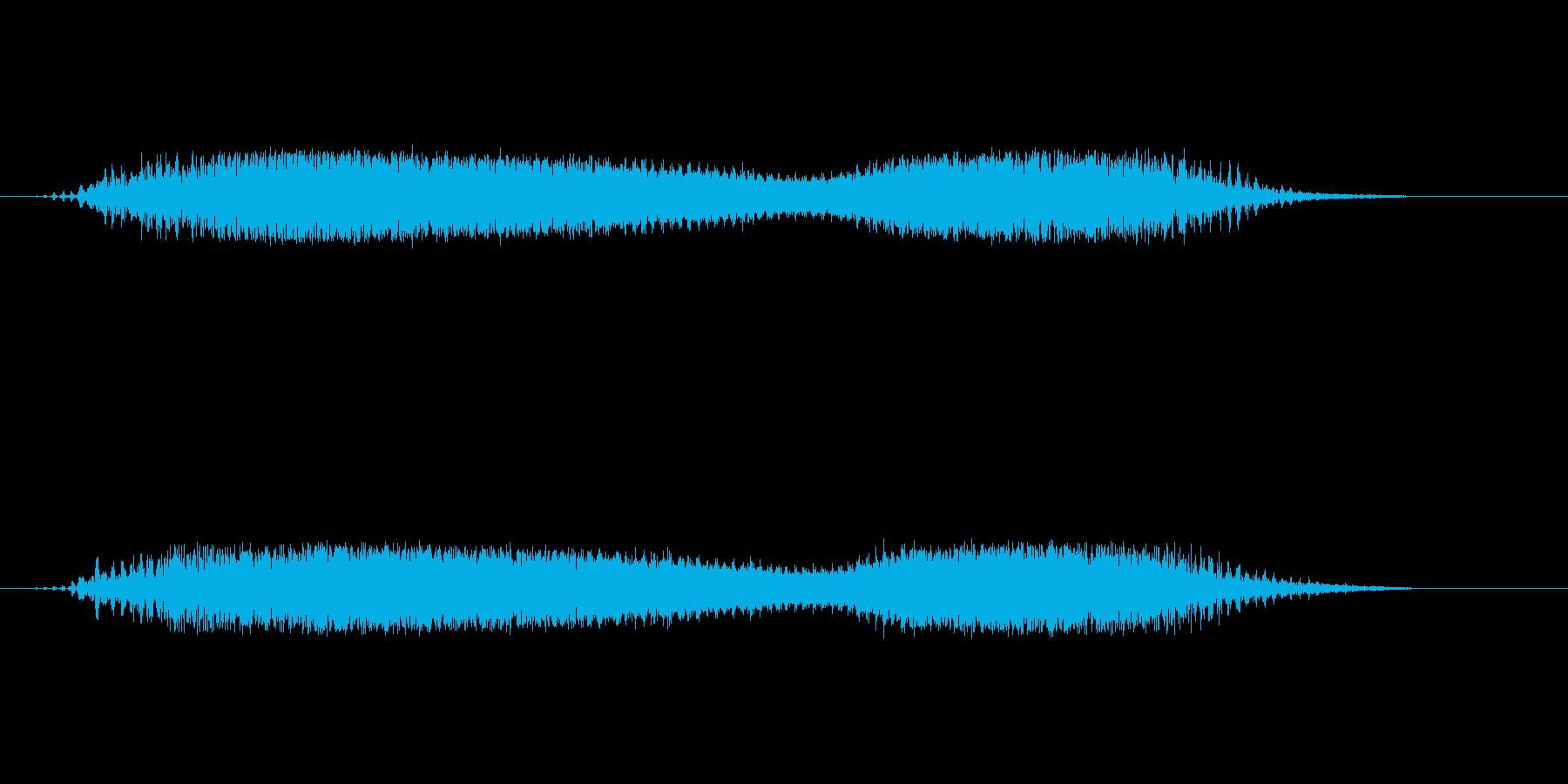 宇宙をイメージしたサウンドエフェクトの再生済みの波形