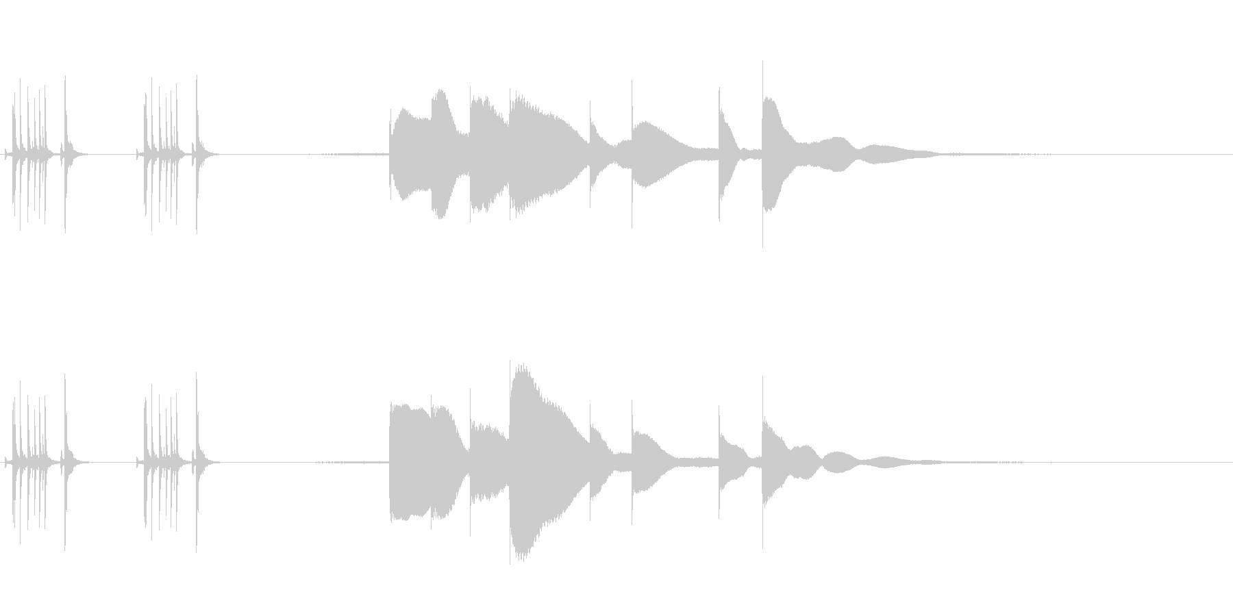 ジングル用オルゴール楽曲12-1の未再生の波形