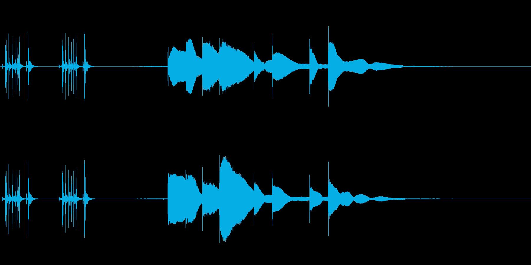 ジングル用オルゴール楽曲12-1の再生済みの波形