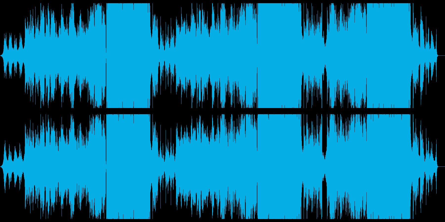 切ない女性ボーカルのバラード曲の再生済みの波形
