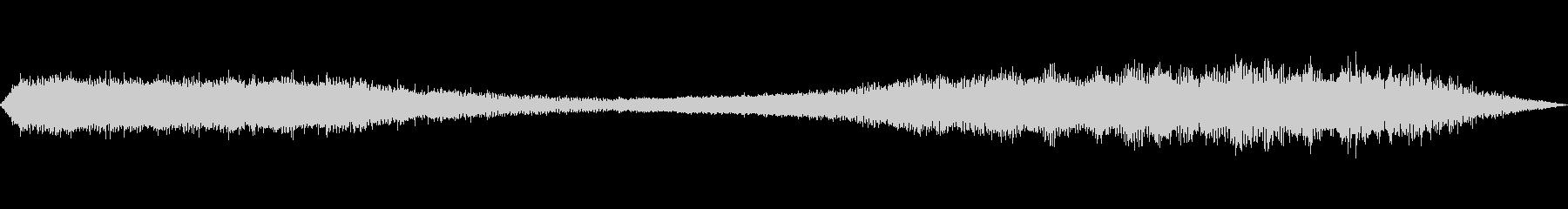 夏の音(セミの鳴き声)の未再生の波形