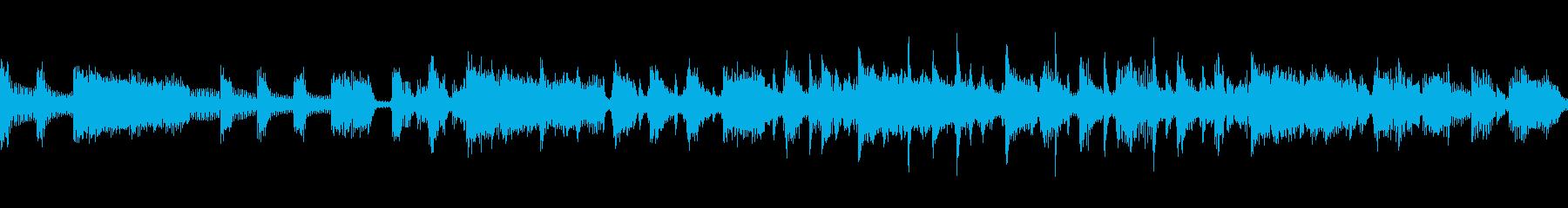 疾走感あるローデイング画面BGMの再生済みの波形