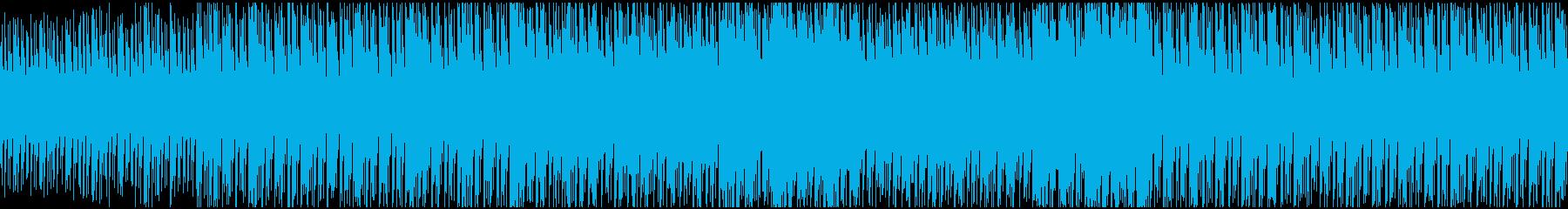 高揚感のあるレトロフューチャーEDMの再生済みの波形