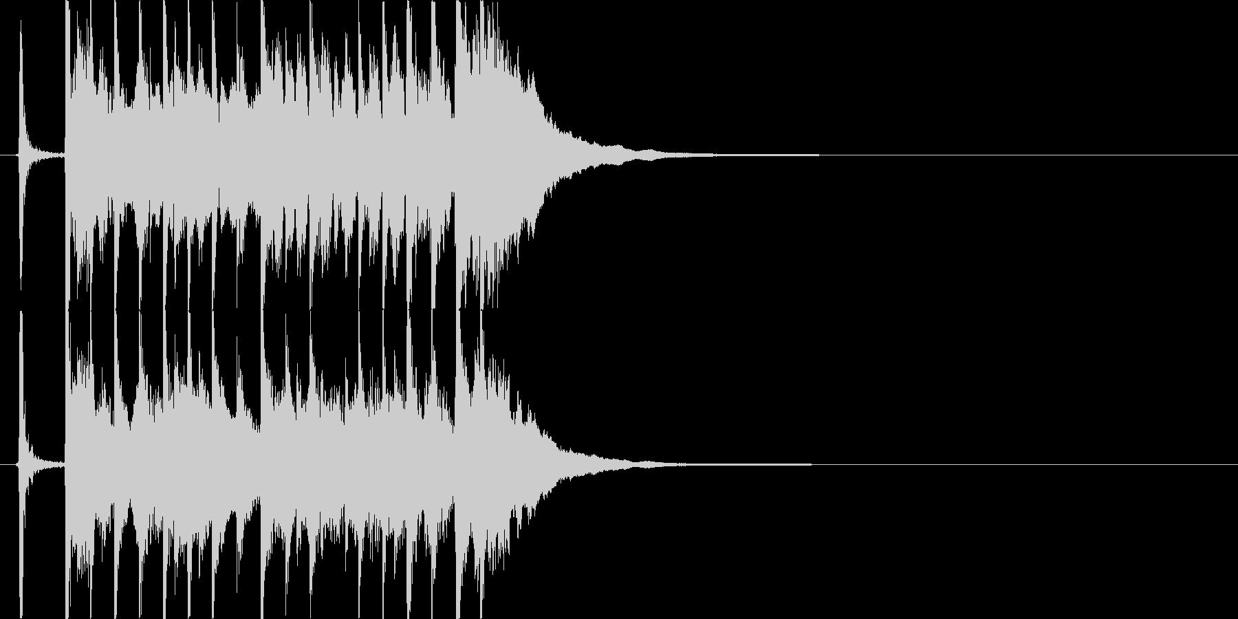 三味線主体の和風ジングル1 掛け声有の未再生の波形