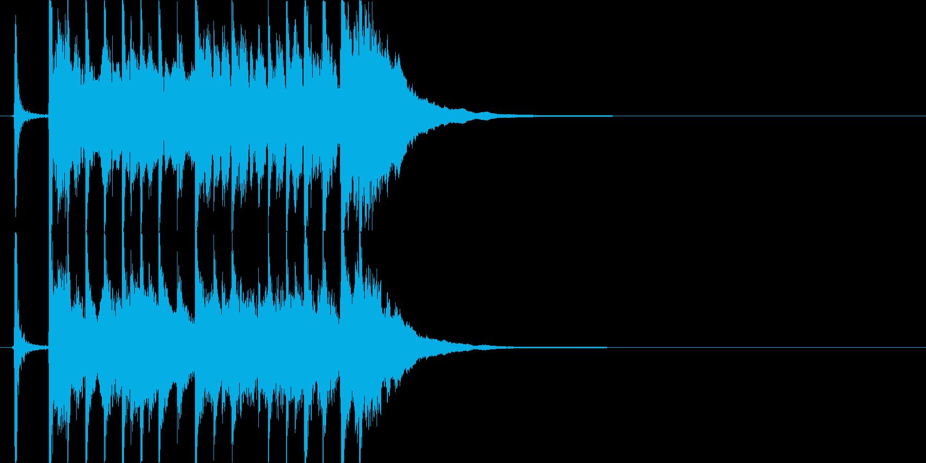 三味線主体の和風ジングル1 掛け声有の再生済みの波形