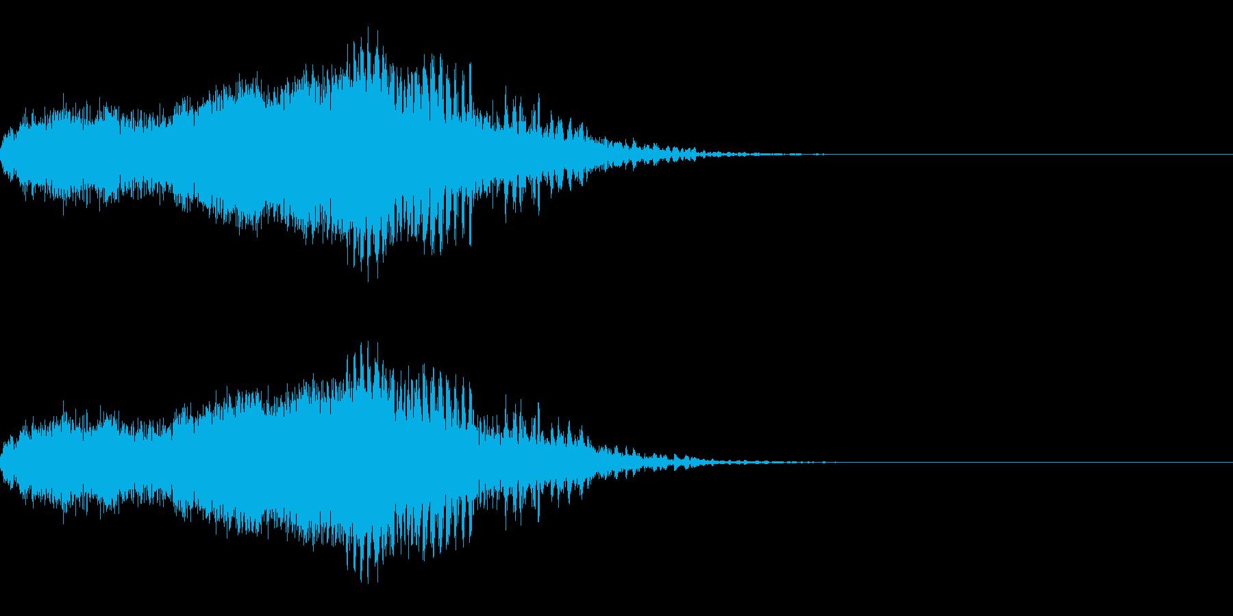 スパーク音-38の再生済みの波形