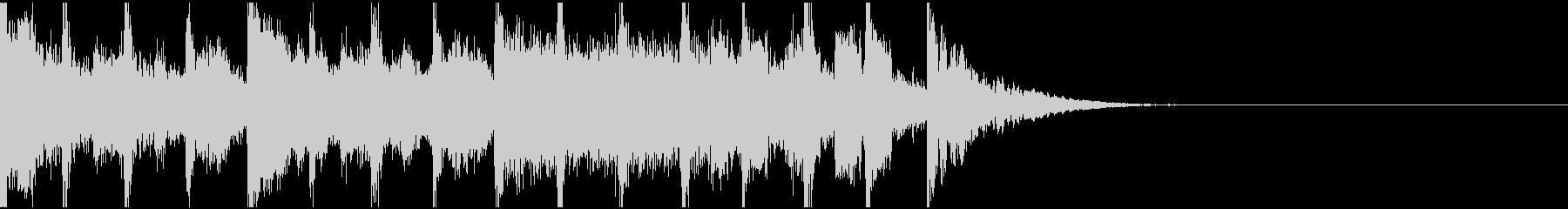勢いのあるタイトル画面のジングルの未再生の波形
