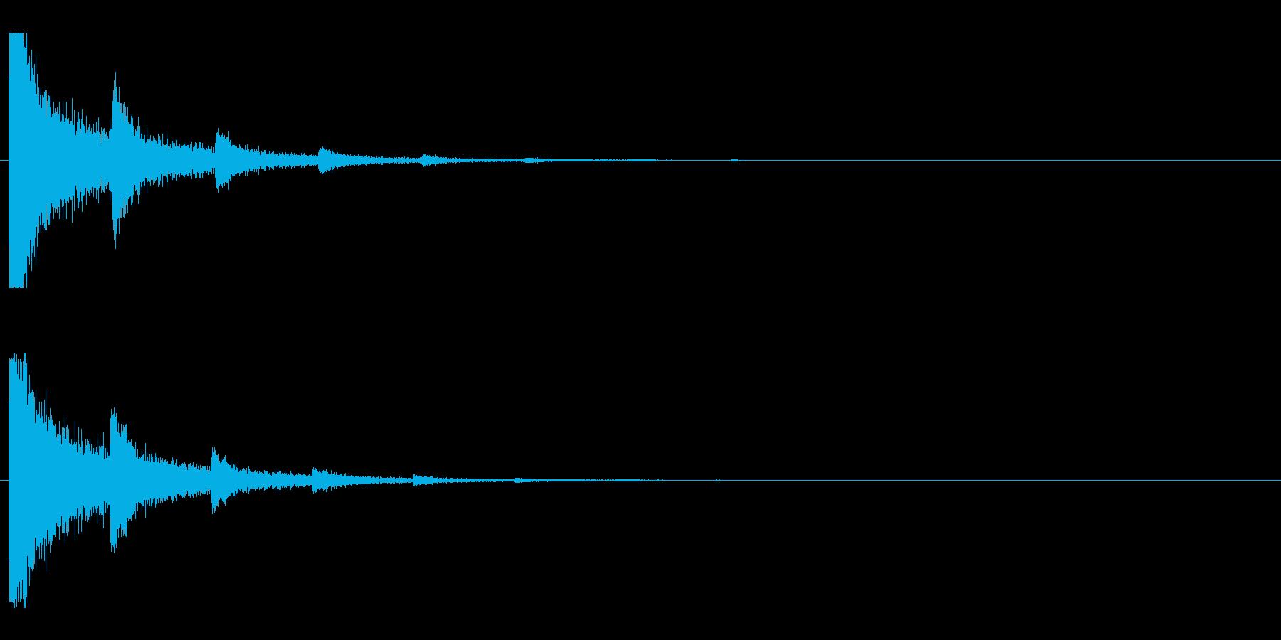レーザー音-06-2の再生済みの波形