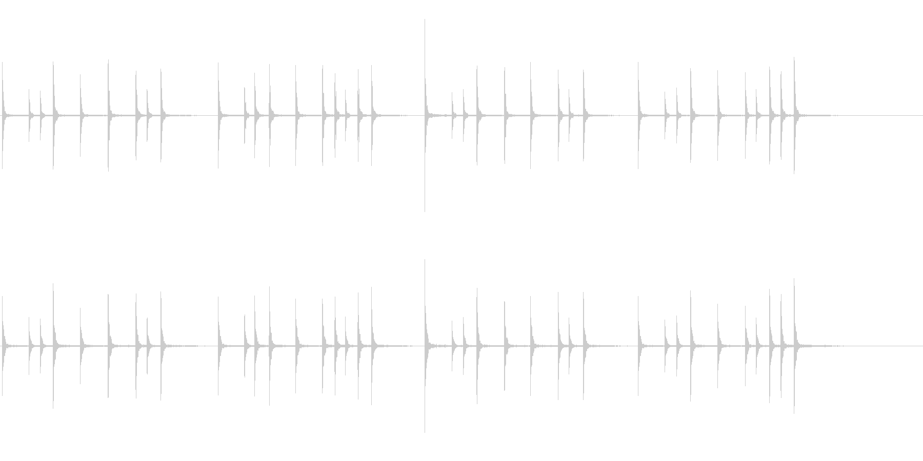 軽快な木鉦(もくしょう)フレーズ音+FXの未再生の波形