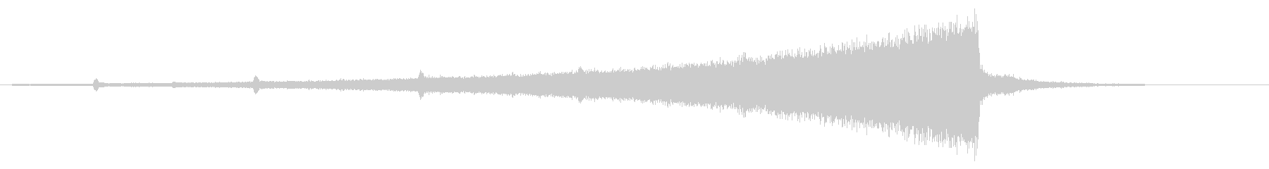 ホラー系アタック音54の未再生の波形
