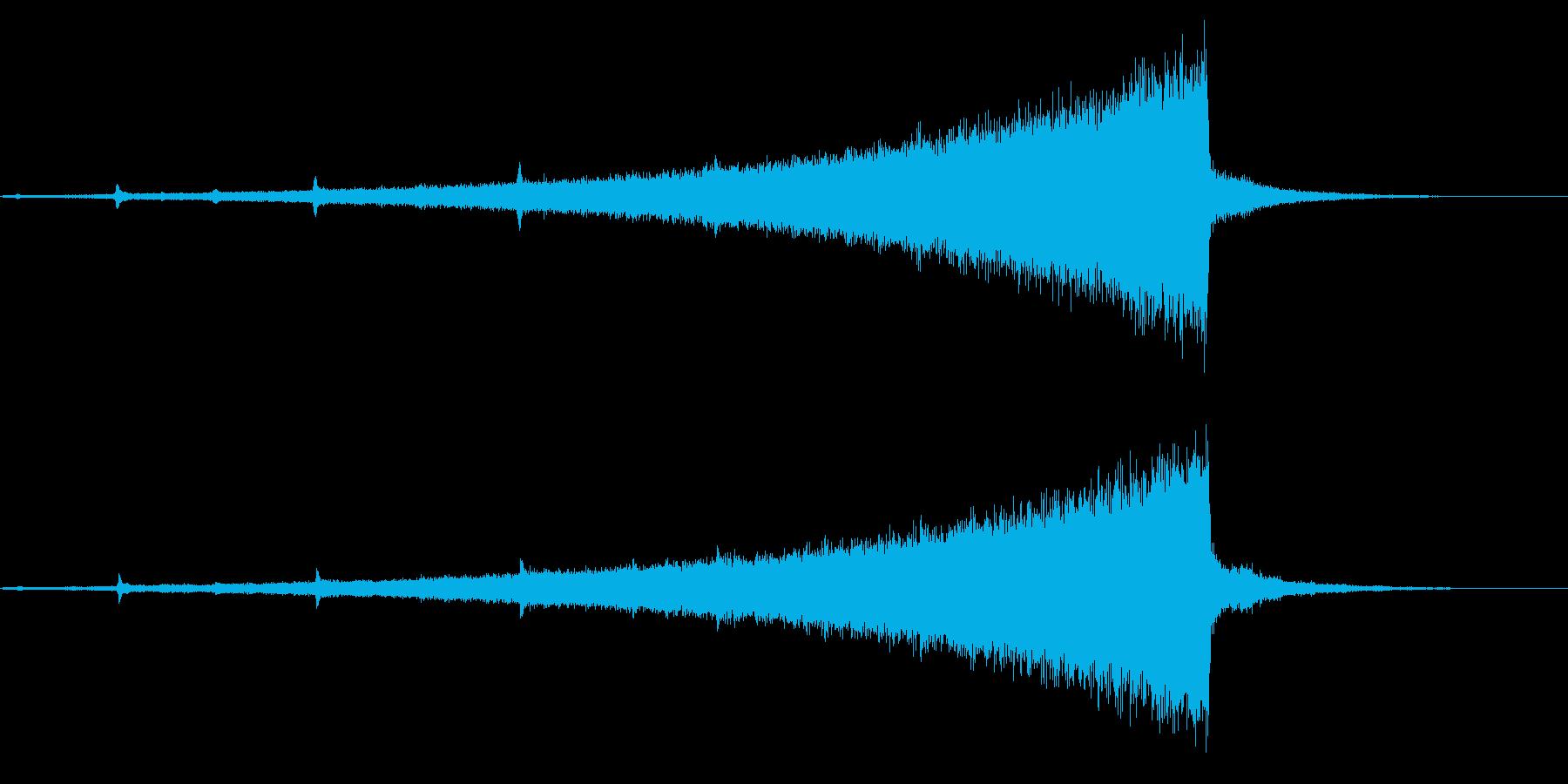 ホラー系アタック音54の再生済みの波形
