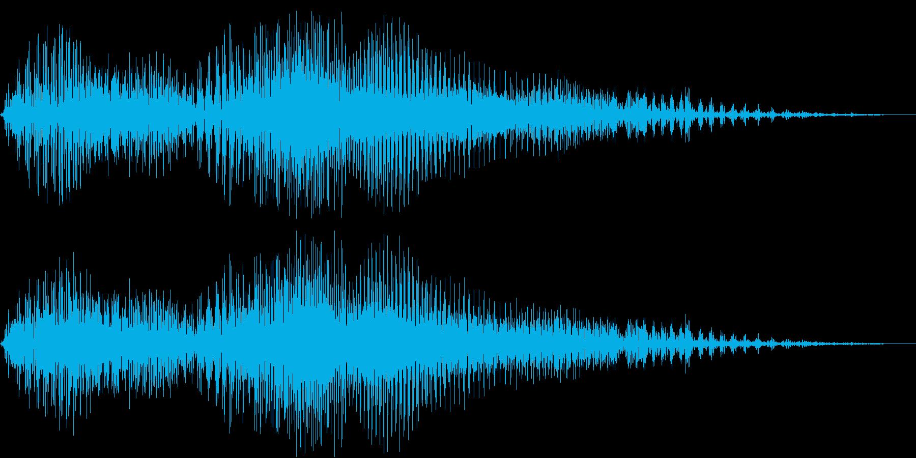 バイク エンジン音 出発時の再生済みの波形