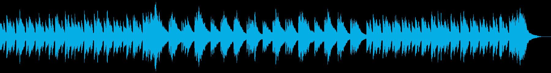 ほのぼのとした雰囲気のピアノソロの再生済みの波形