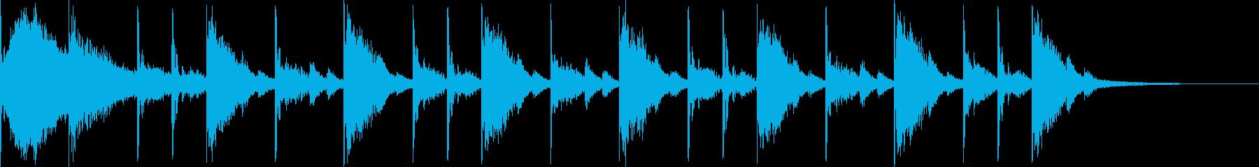 リアルなドラム16ビートです。の再生済みの波形