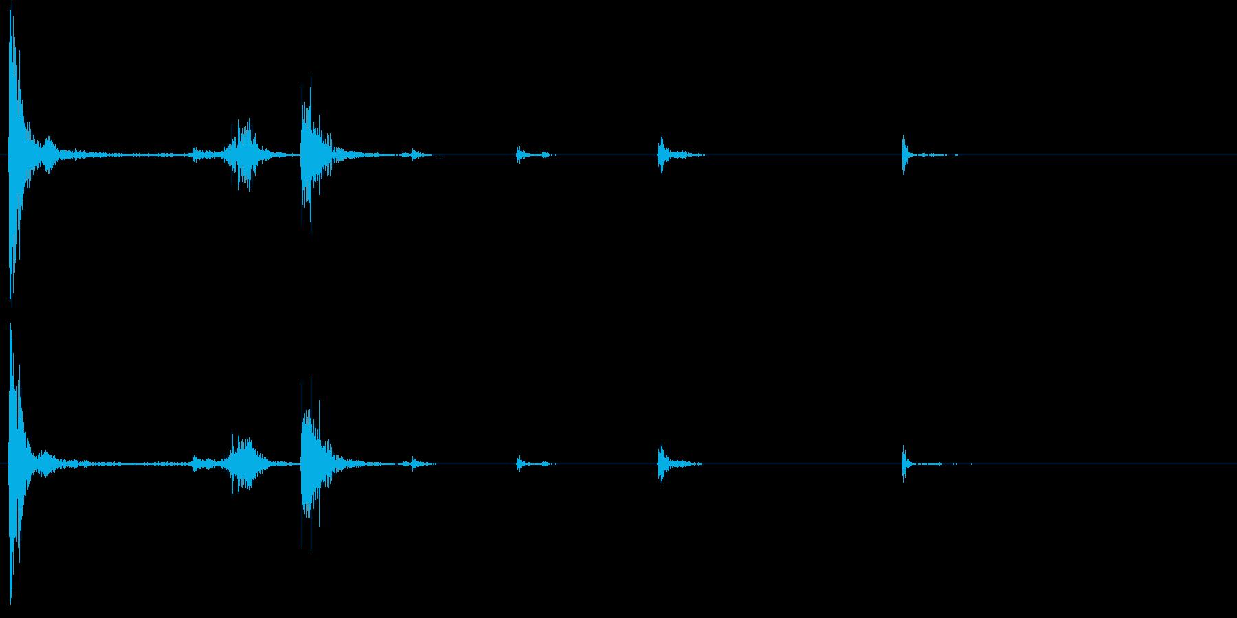 【生録音】お箸の音 58 両手で持ち上げの再生済みの波形