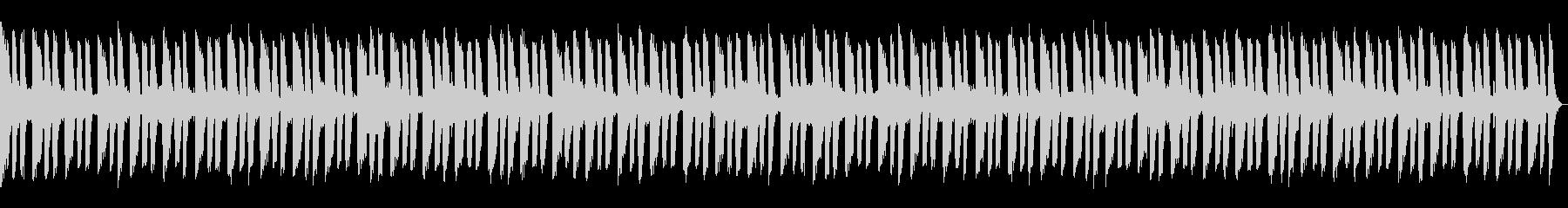 怪しいムードのギターリフのBGMの未再生の波形