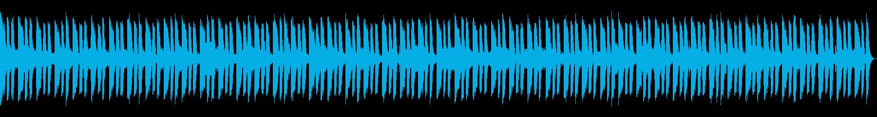 怪しいムードのギターリフのBGMの再生済みの波形