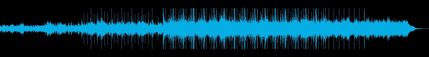 神秘的でミステリアスなシンセサイザーの再生済みの波形