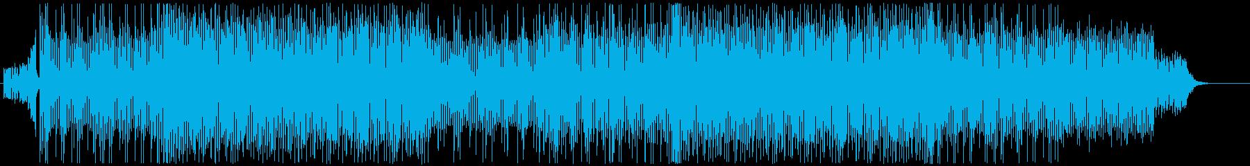 シンセ中心の緊迫感溢れる劇伴系BGMの再生済みの波形