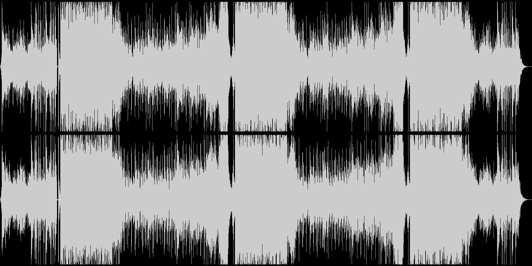 ミドルテンポのさわやかEDMの未再生の波形