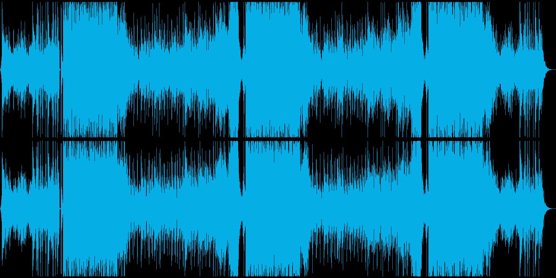 ミドルテンポのさわやかEDMの再生済みの波形