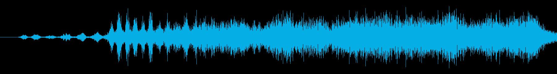 宇宙無線または通信ヘビーデジタル信...の再生済みの波形