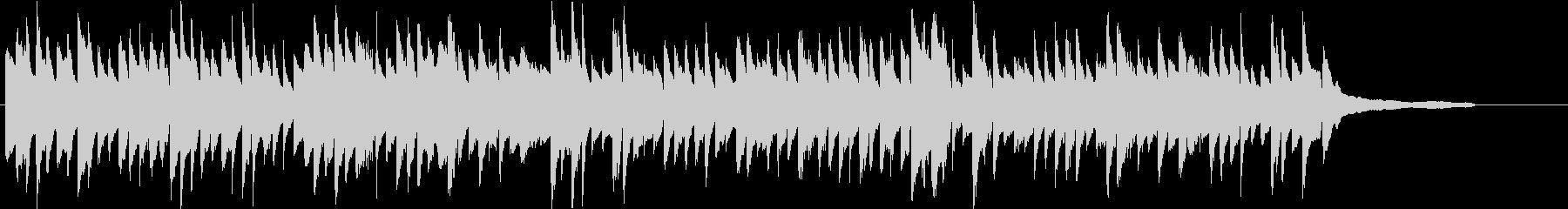 美しい日常のワンシーンピアノソロの未再生の波形