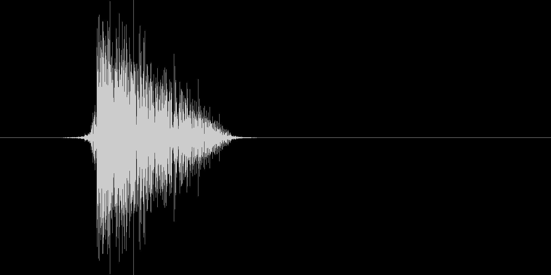 ゲーム(ファミコン風)ヒット音_037の未再生の波形