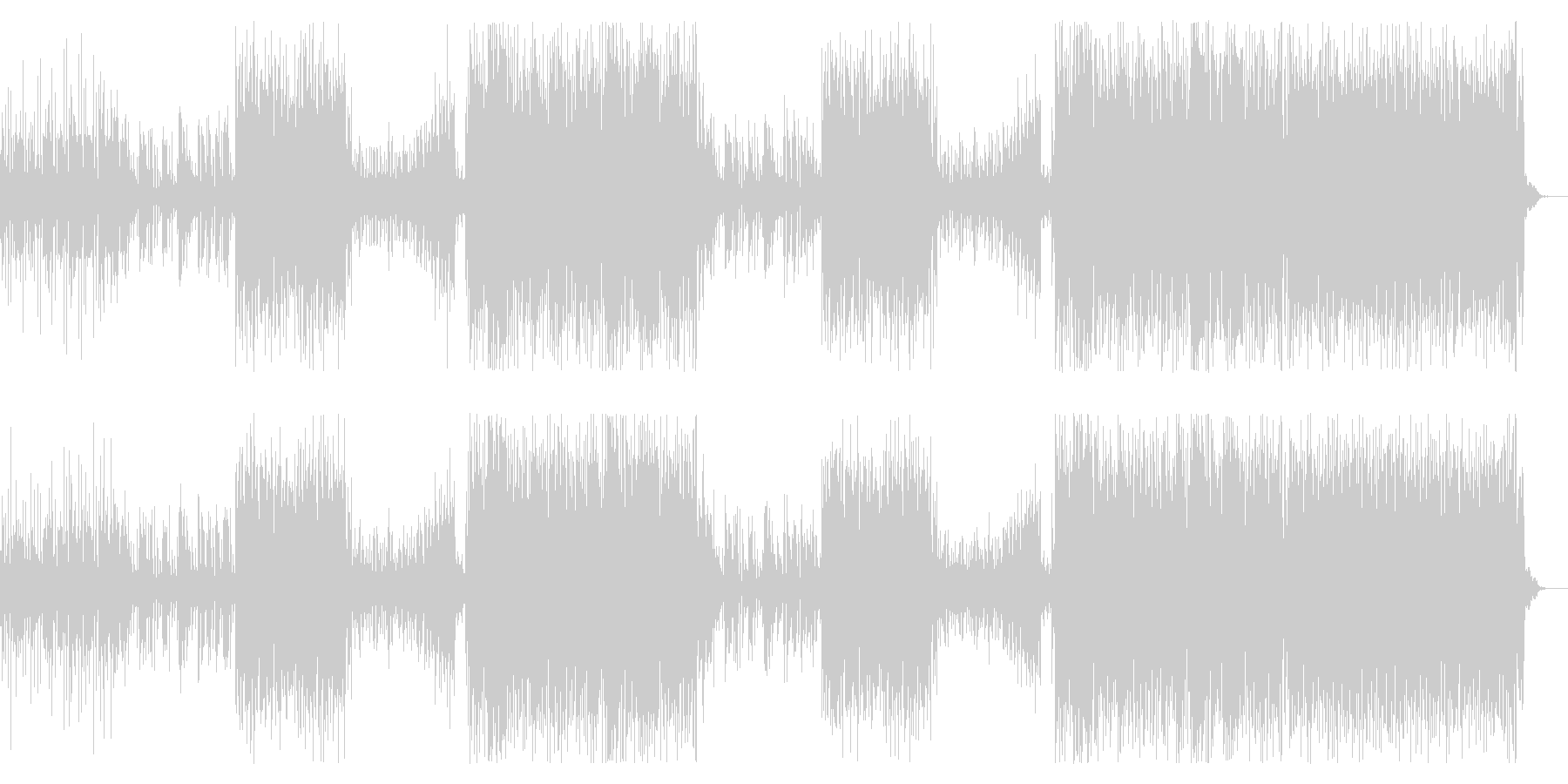 洋楽トレンド女性セツナ系トロピカルハウスの未再生の波形