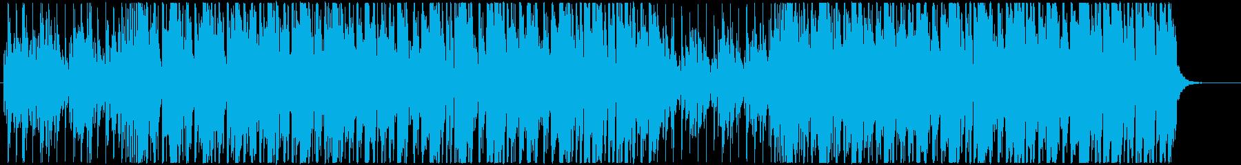 K-POPディスコ調ポップBGMの再生済みの波形