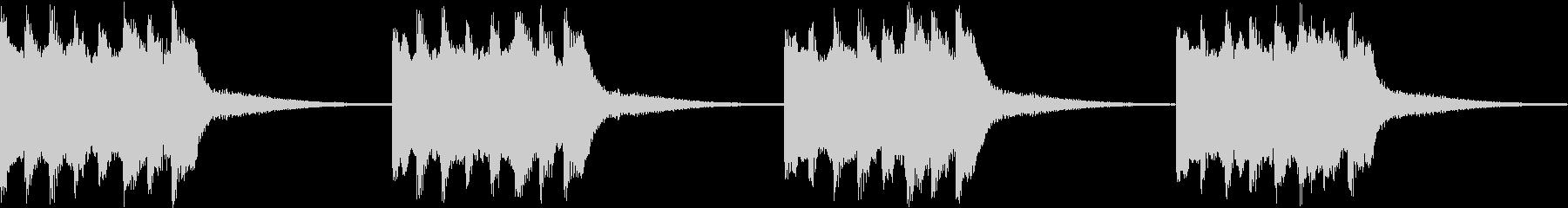 シンプル ベル 着信音 チャイム B11の未再生の波形
