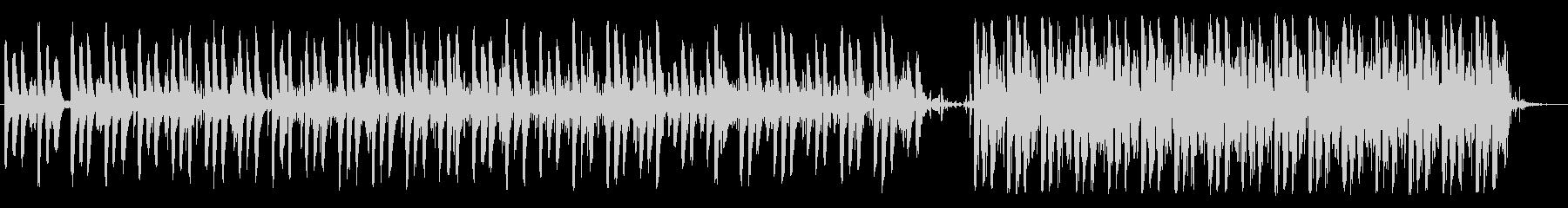 アンニュイなテクノポップの未再生の波形