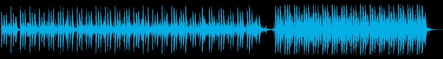 アンニュイなテクノポップの再生済みの波形
