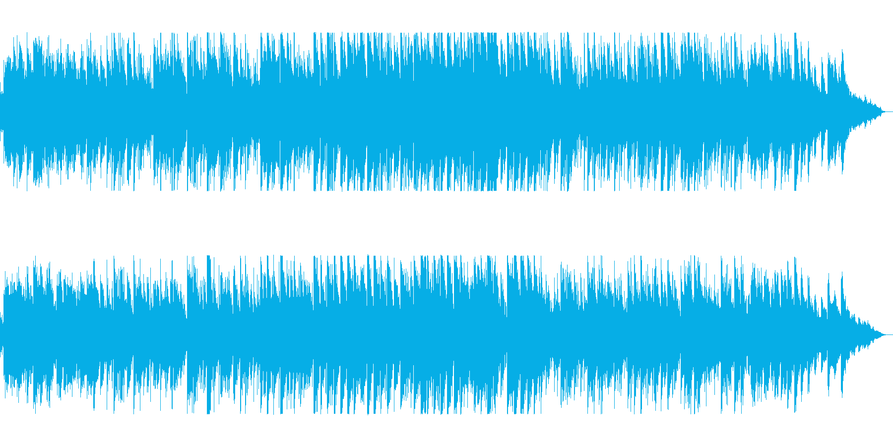 美しいピアノのヒーリングの再生済みの波形