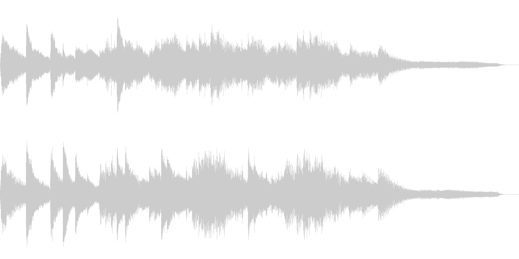 15秒の切ない和風ジングル22-ピアノの未再生の波形