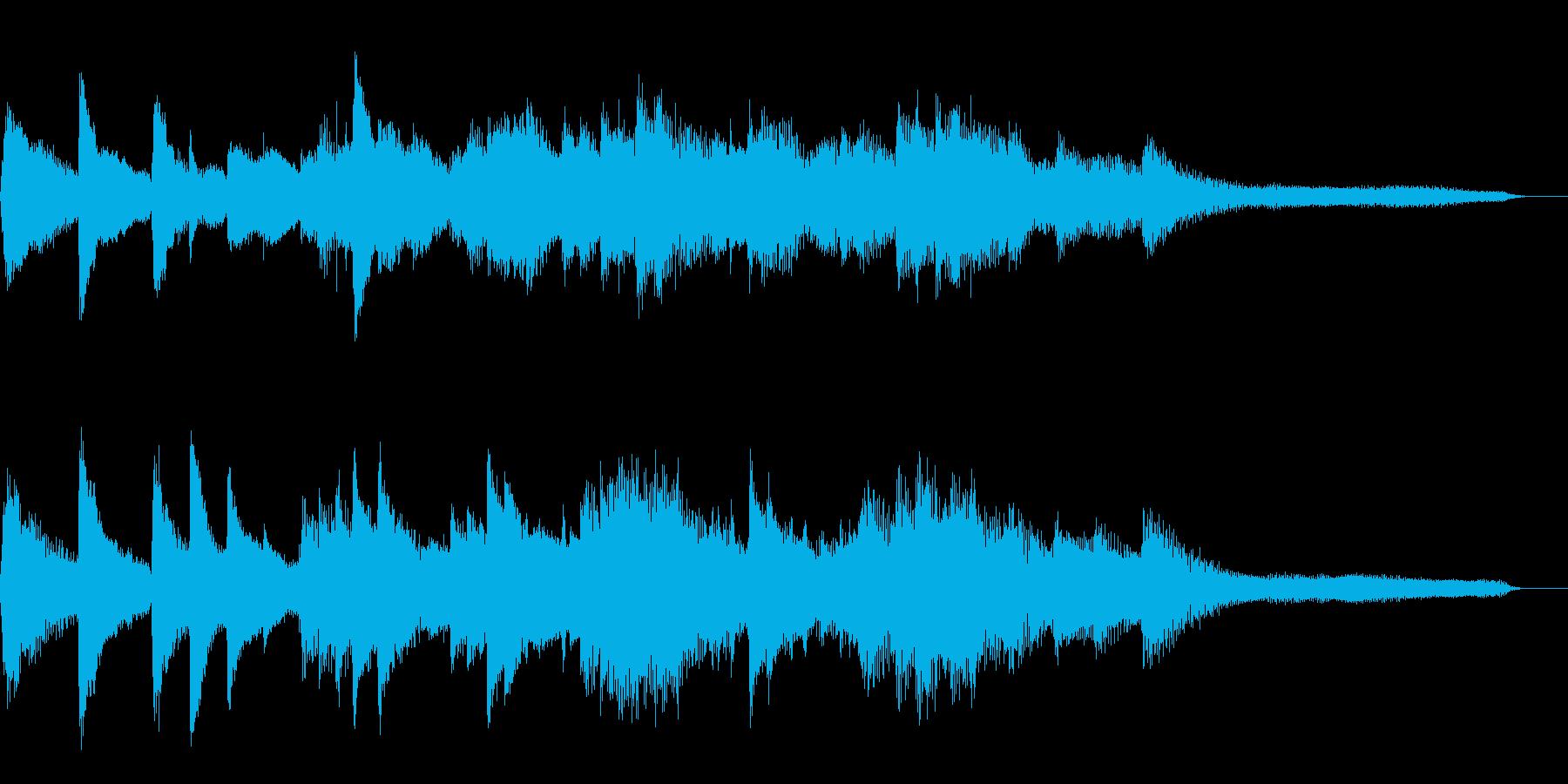 15秒の切ない和風ジングル22-ピアノの再生済みの波形