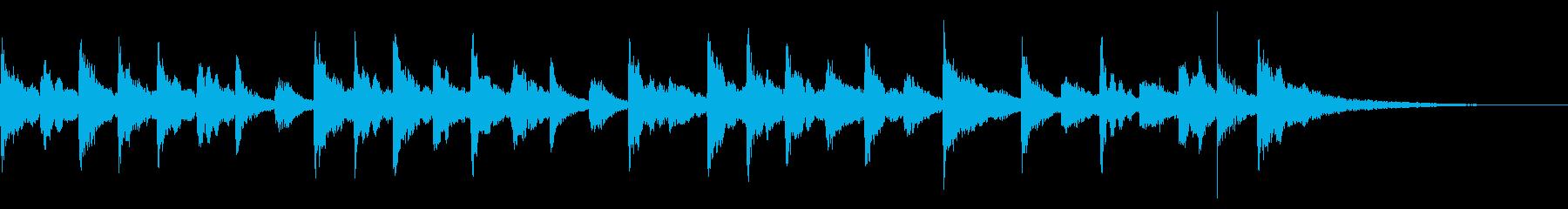 悲壮感のあるジングルの再生済みの波形
