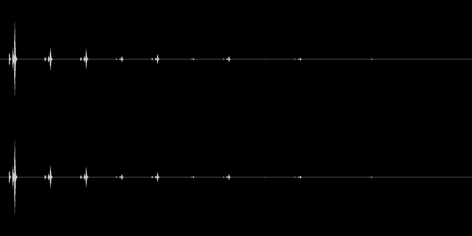 【時計2】クロック、アンティーク、残響の未再生の波形