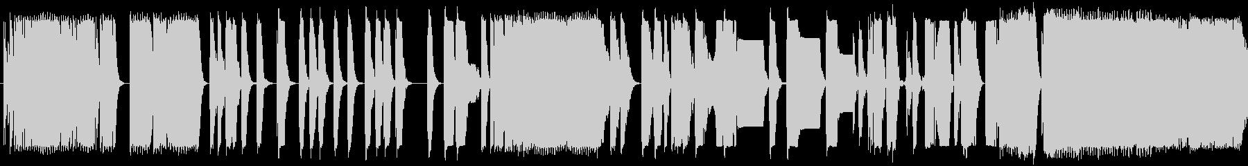 レーザーがさまざまな低音に当たるの未再生の波形