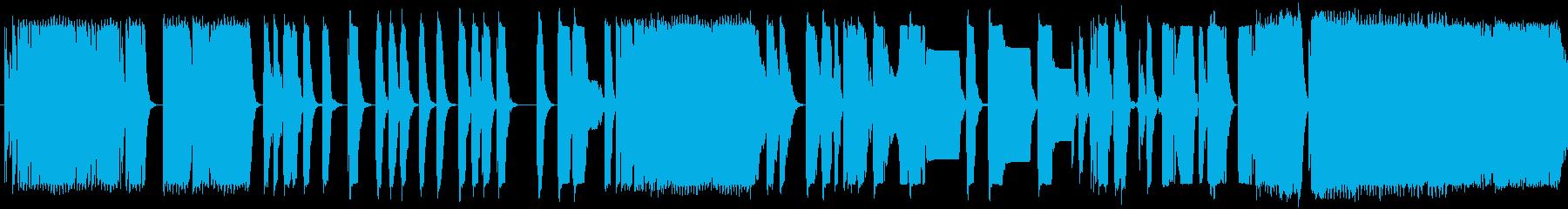 レーザーがさまざまな低音に当たるの再生済みの波形