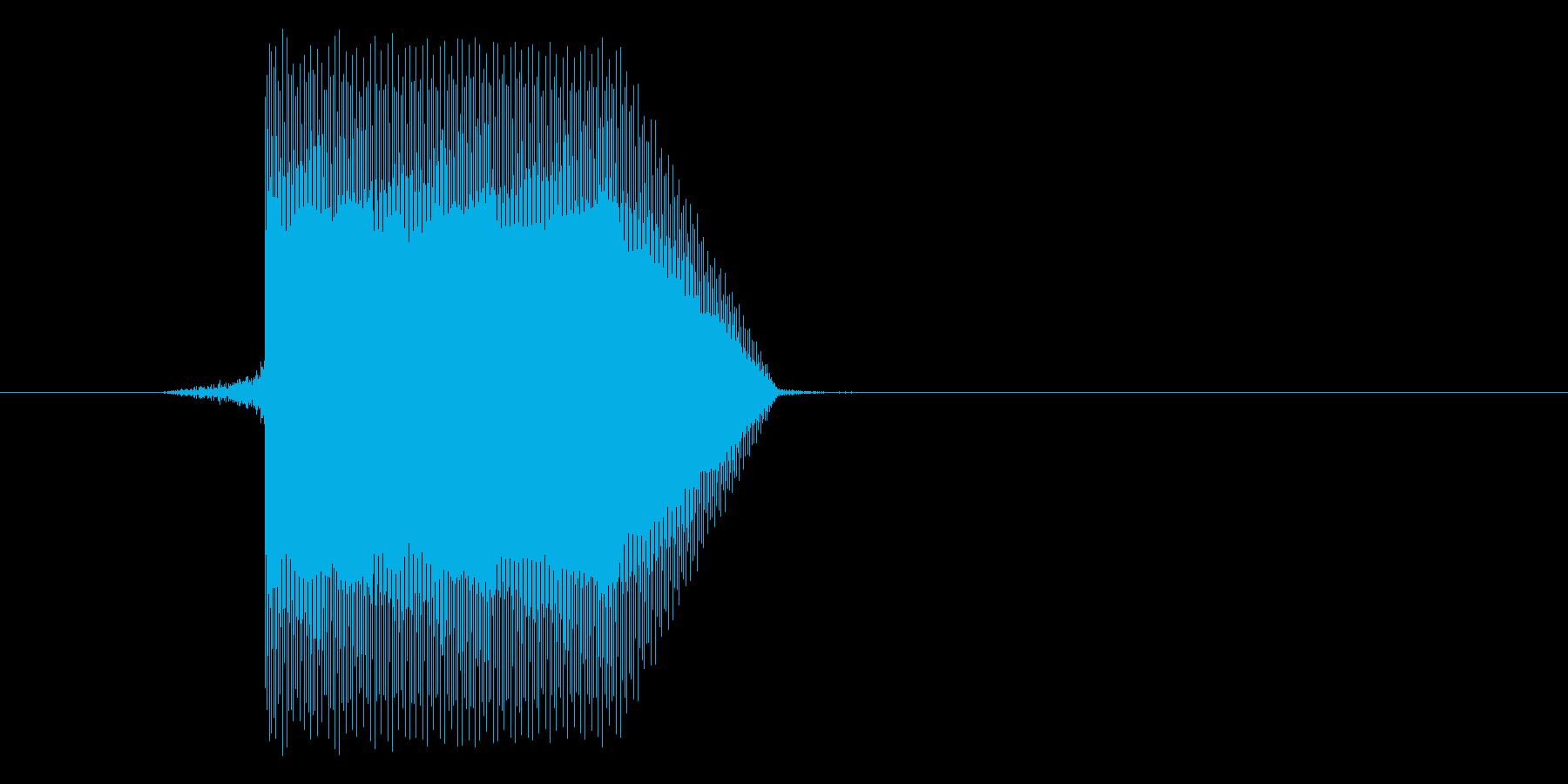 ゲーム(ファミコン風)セレクト音_015の再生済みの波形