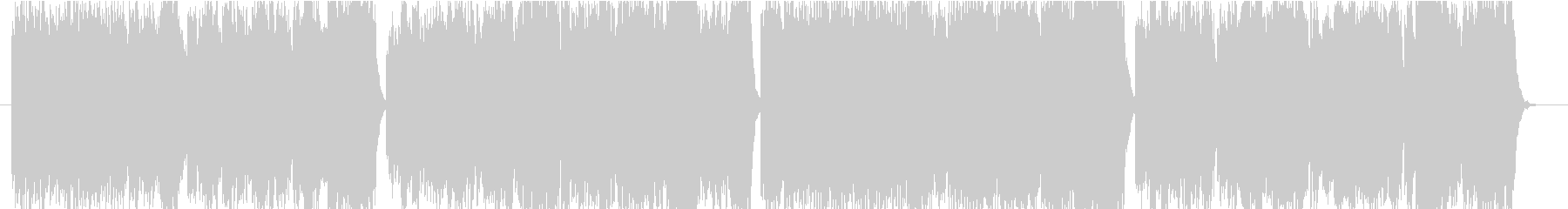 プラネタリウム風ヒーリングBGMの未再生の波形