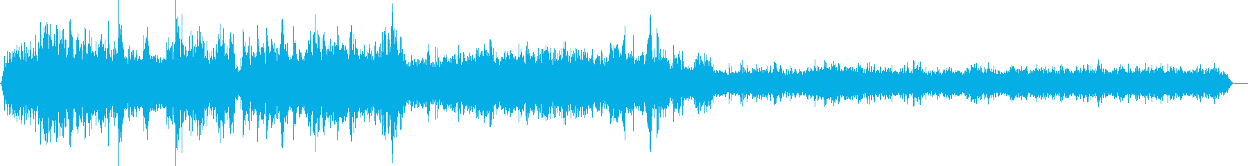 道路を軽自動車が走る音 (車内の音)の再生済みの波形