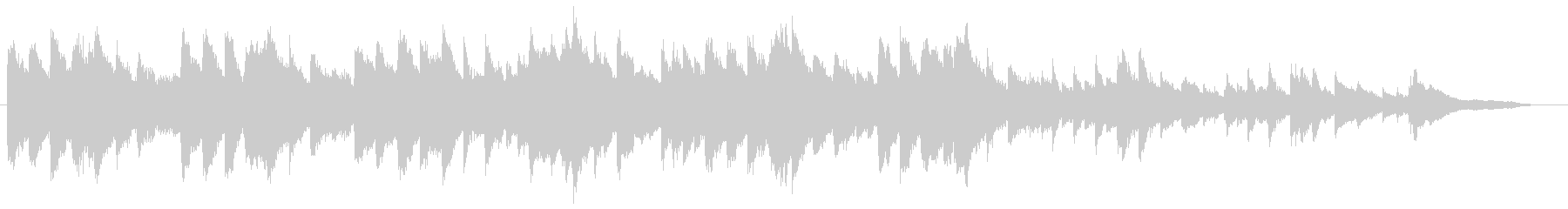 感情的なクラシックソロピアノ音楽の未再生の波形
