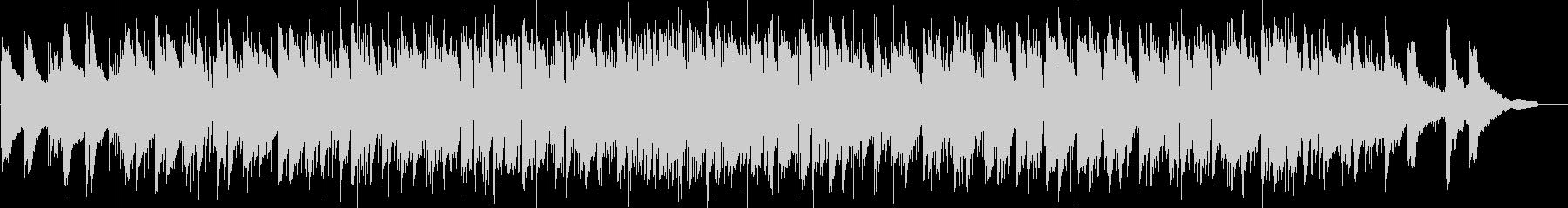 ゆったりとしたヒップホップ風ピアノトリオの未再生の波形