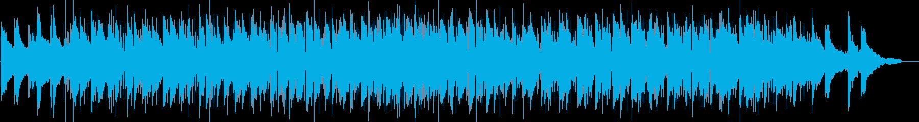 ゆったりとしたヒップホップ風ピアノトリオの再生済みの波形